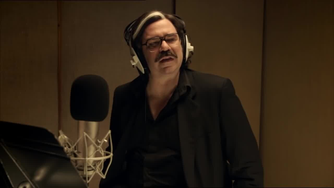 Toast of London in the sound booth