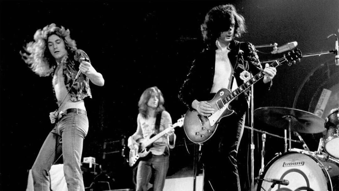 Old rockers on stage