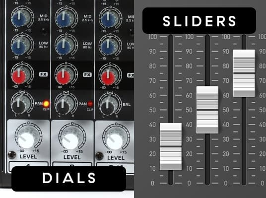 Beginners Guide to Live Shows Using a Mixer Dials and Faders