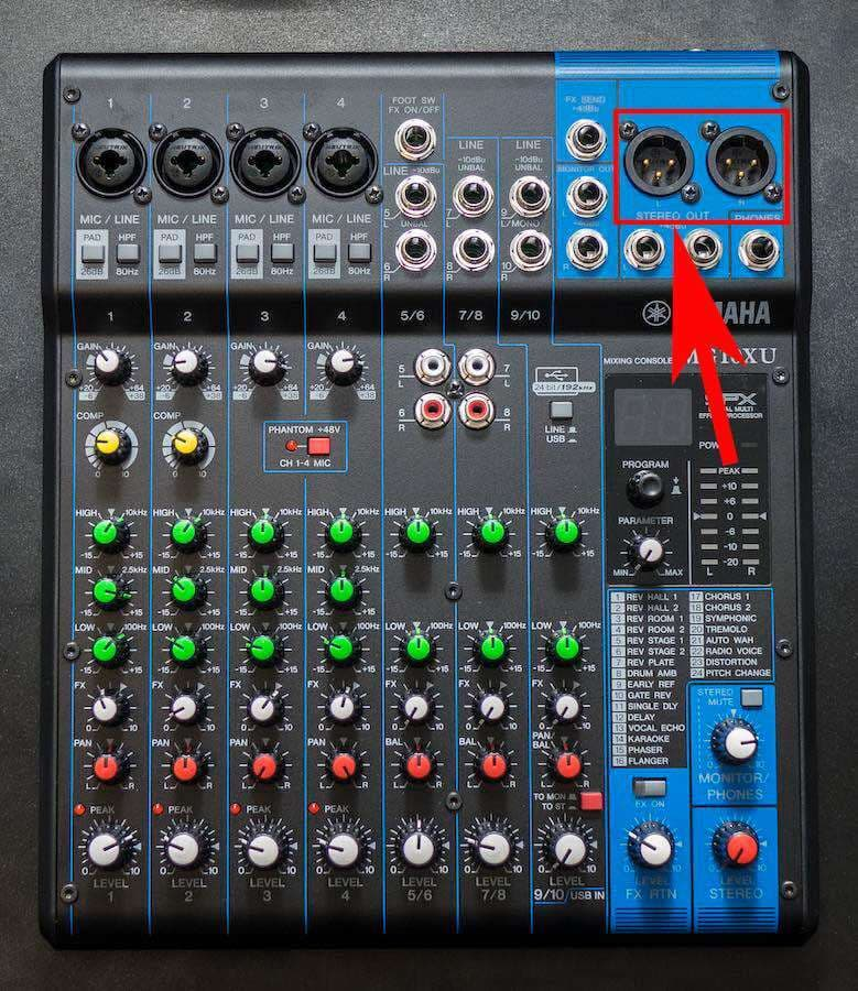 Beginners Guide to Live Shows Using a Mixer Yamaha XLR Out
