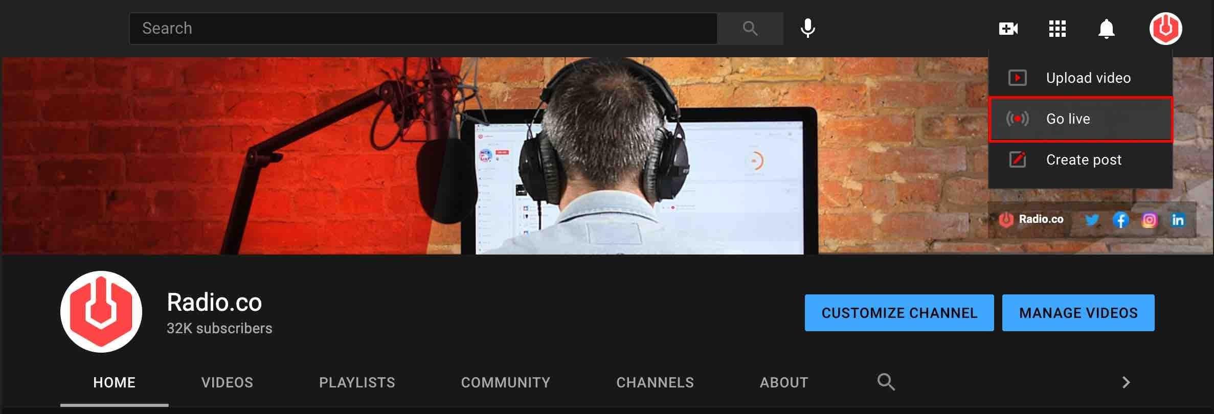 How to Broadcast Radio on Youtube Go Live