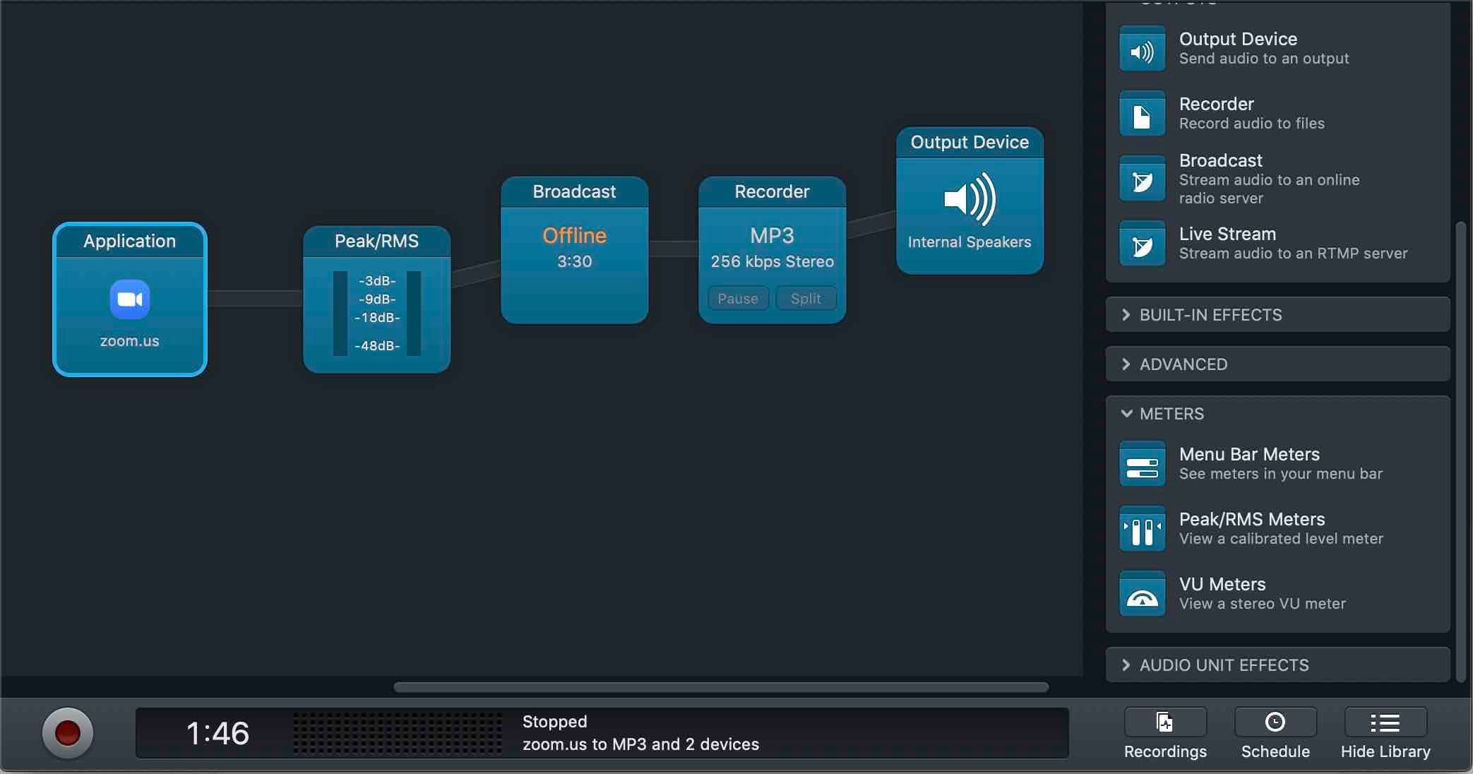 How to Broadcast Zoom Calls to your Radio Station Working Audio Hijack Session