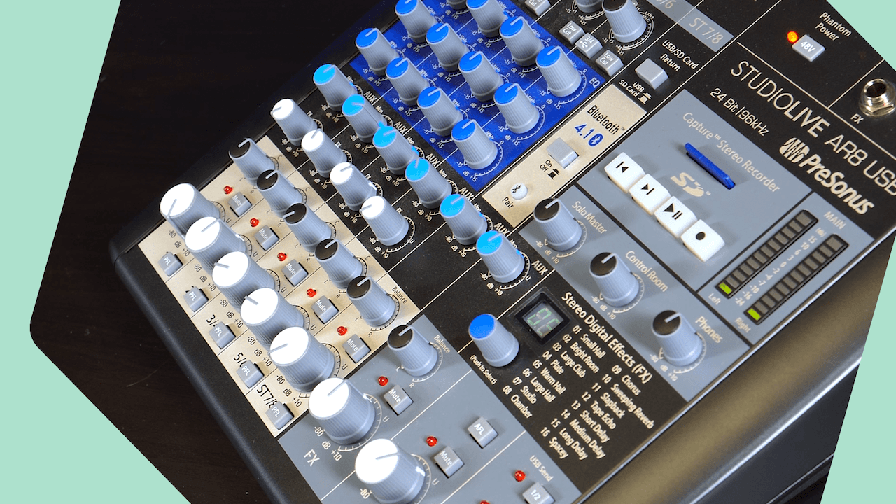 Pre Sonus Studio Live Ar8 Mixer Review Header