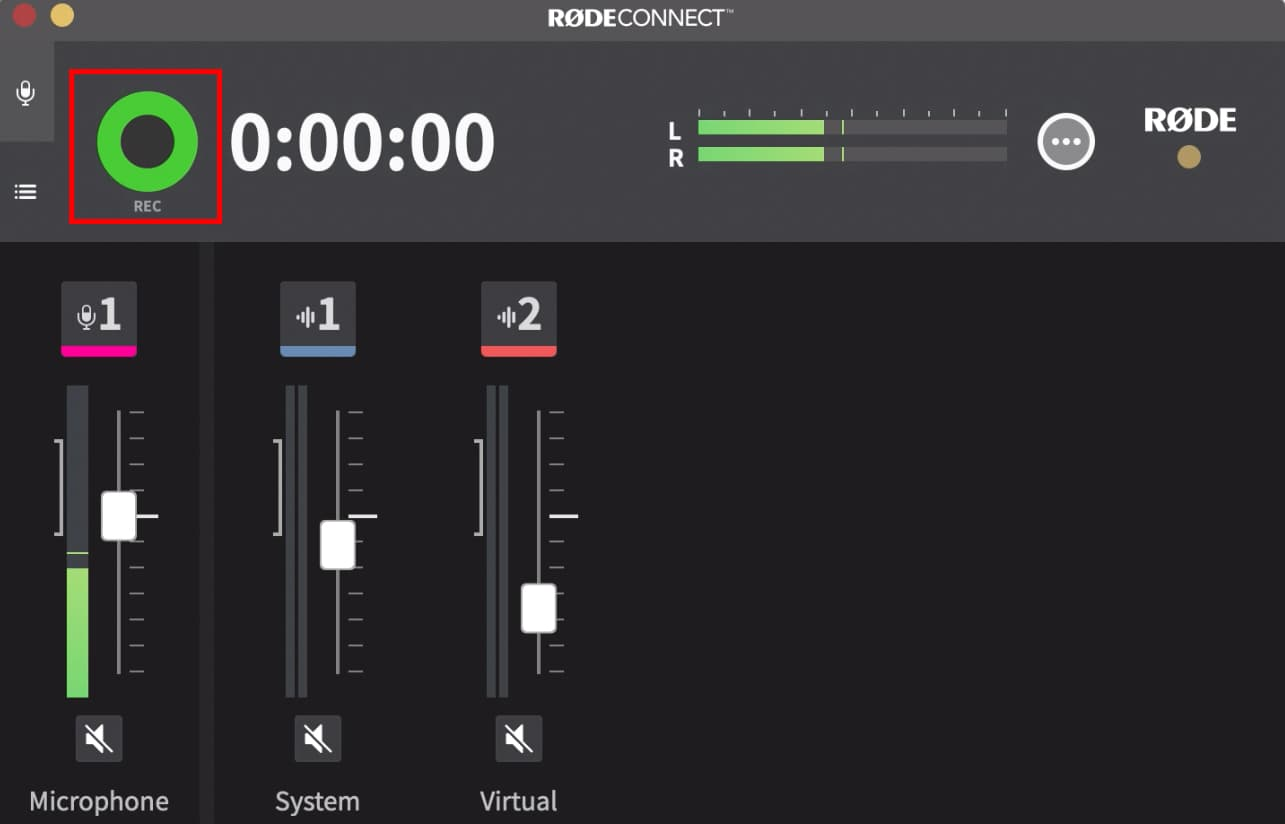 Rode Connect Setup for Radio Recording Button