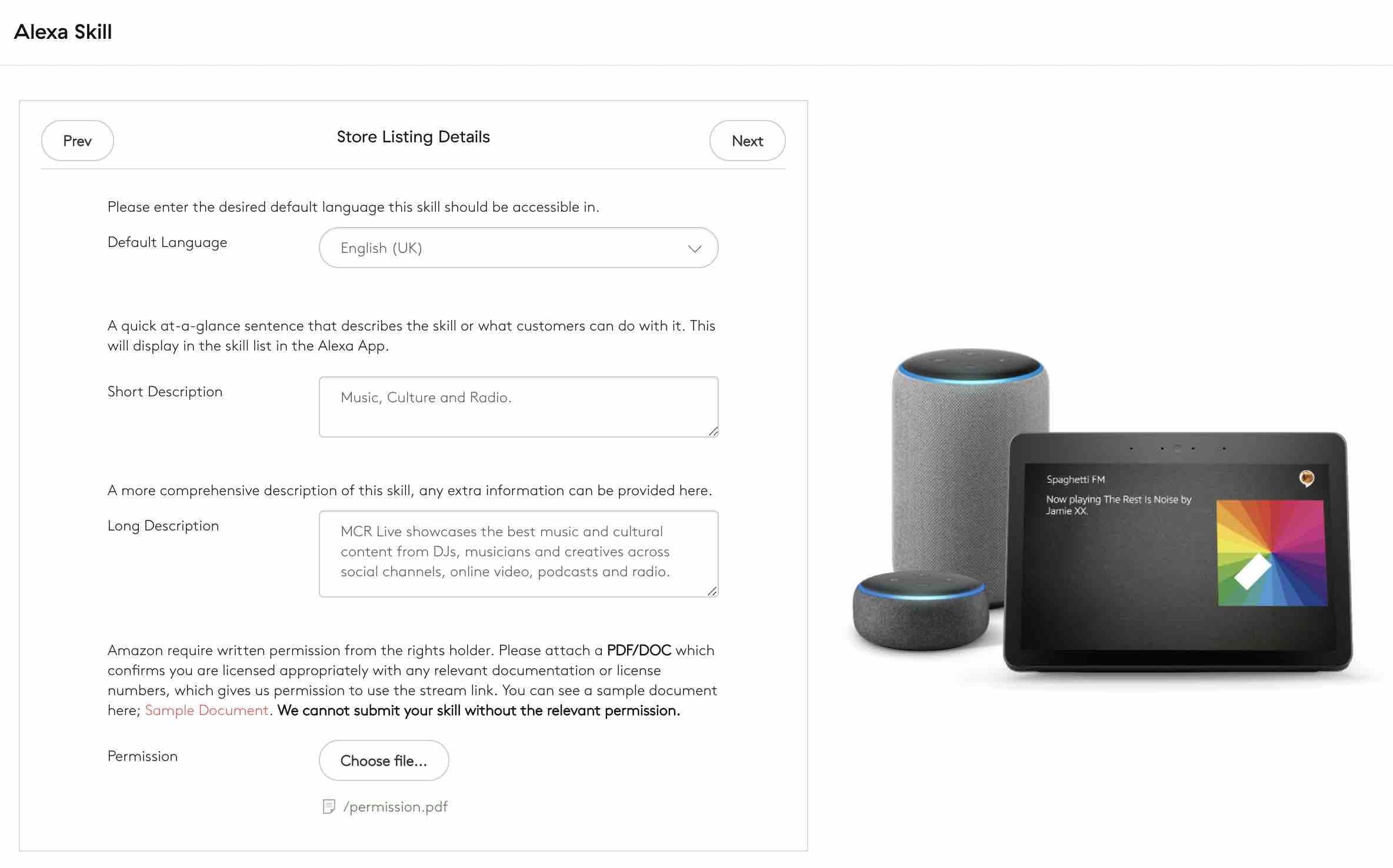Amazon Alexa Skill Step 4
