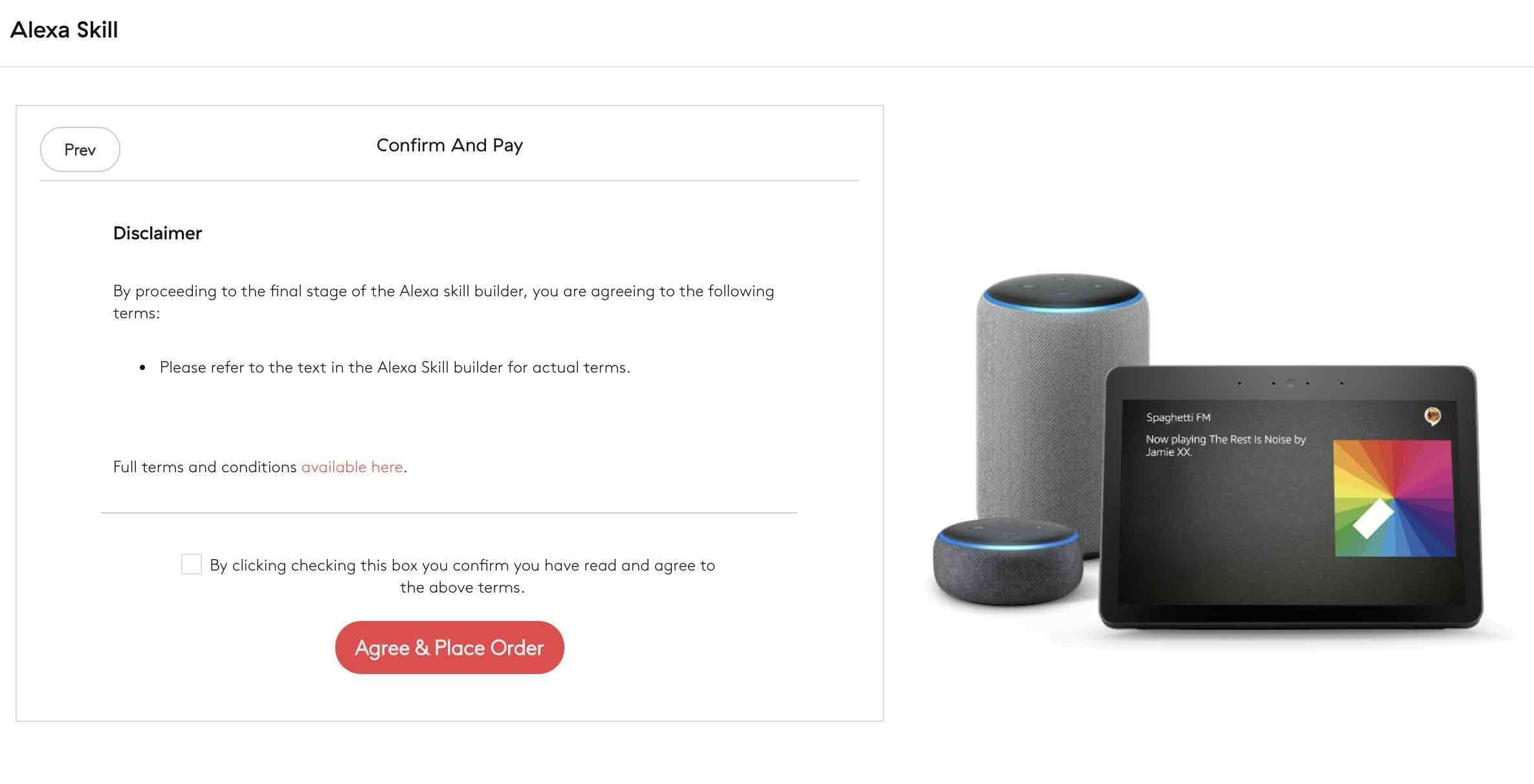 Amazon Alexa Skill Step 6