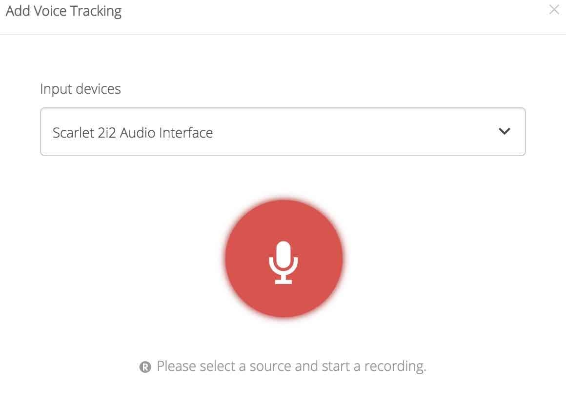 Voice Tracking 5