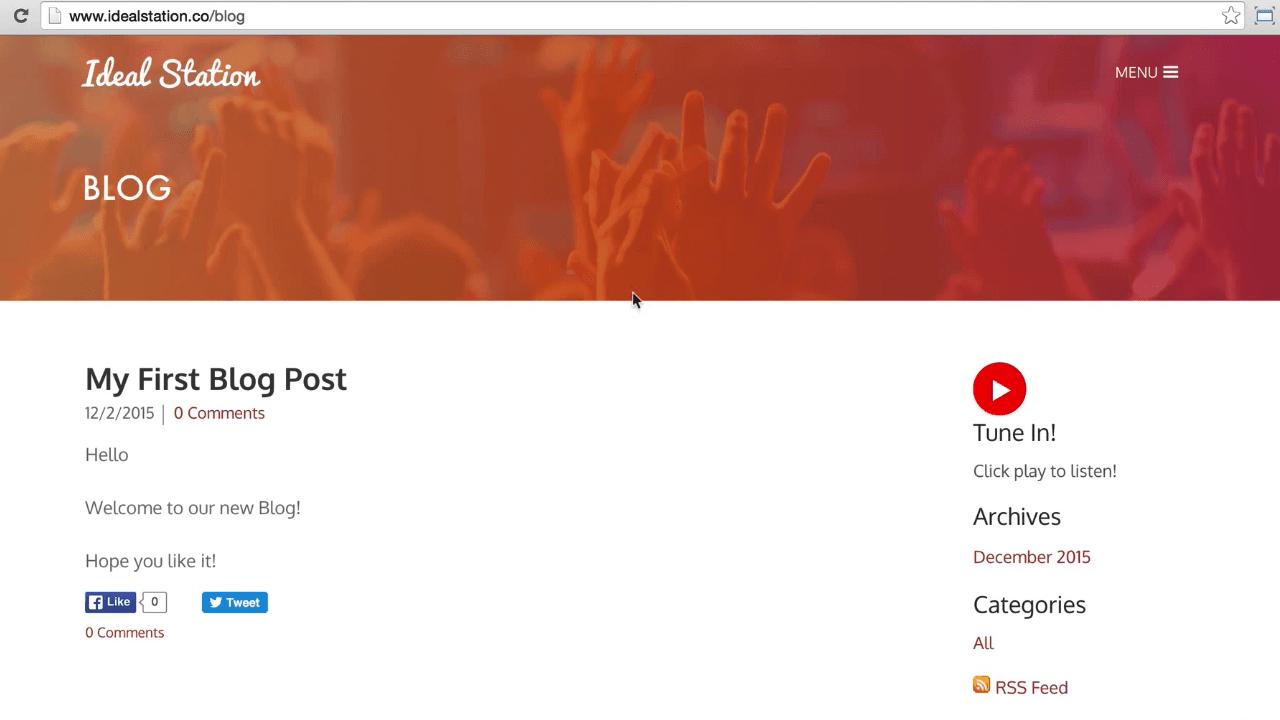 Create Radio Blog Uni Header