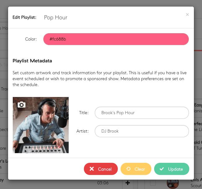 Changing playlist metadata