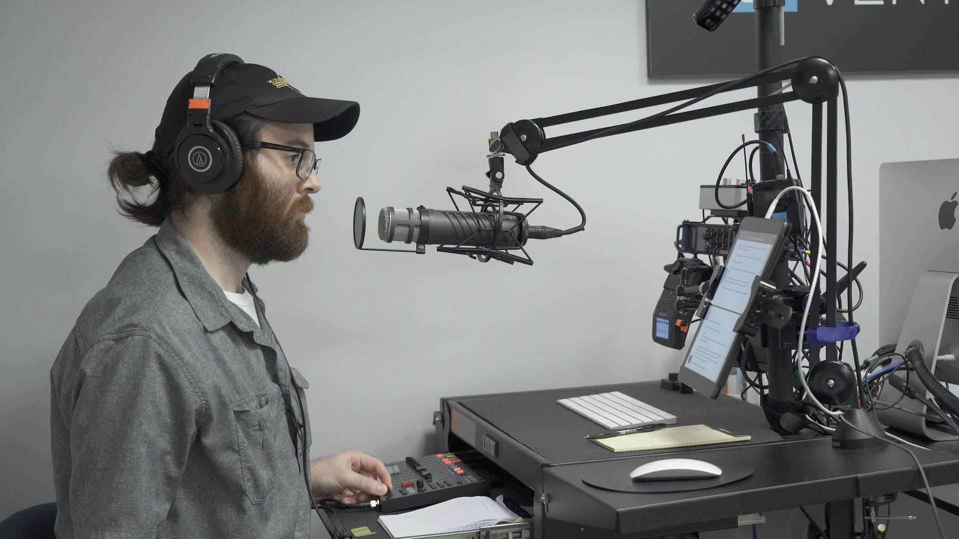 Cybercrime Radio studio space.