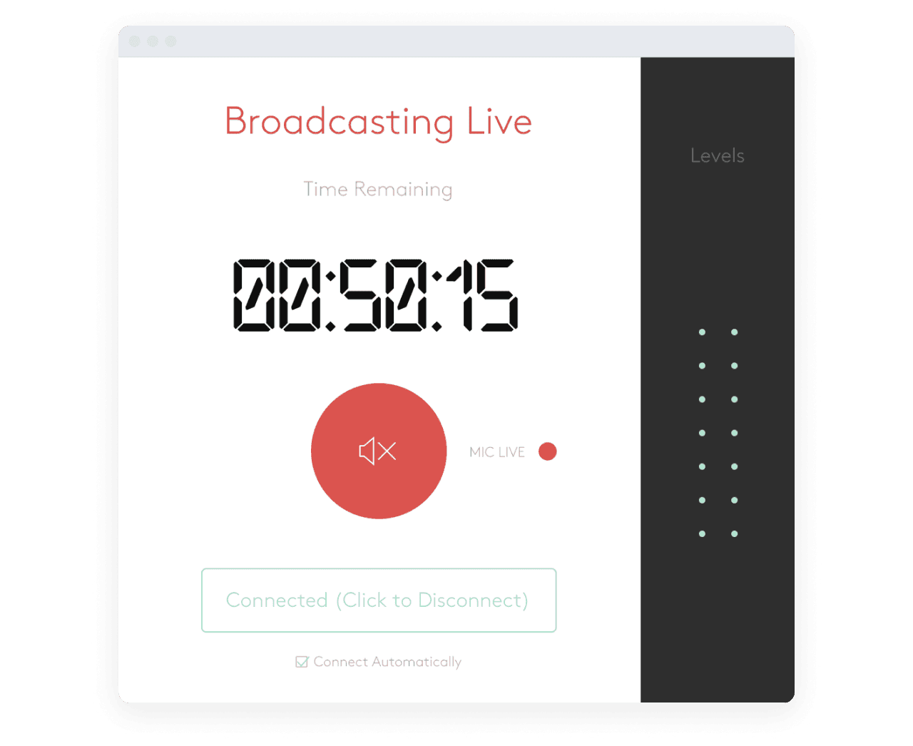 Radio.co dashboard