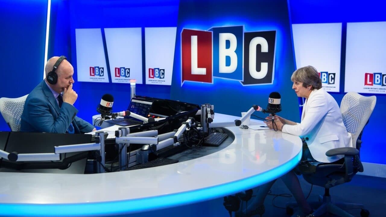 LBC radio station with political guest
