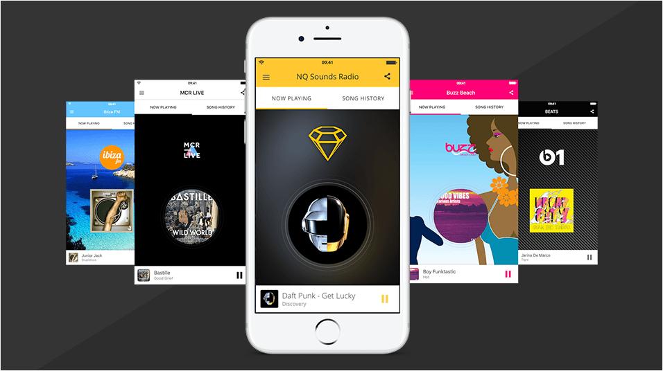 Radio Station App Showcases