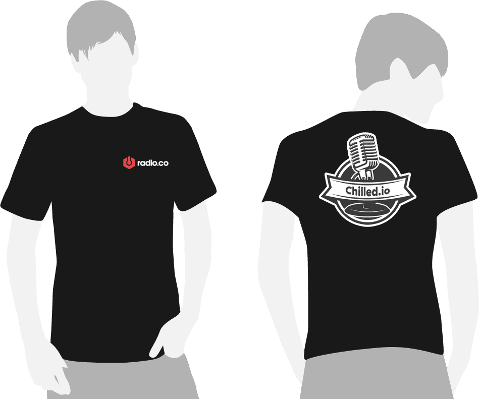 Radio.co t-shirt design for Chilled.io